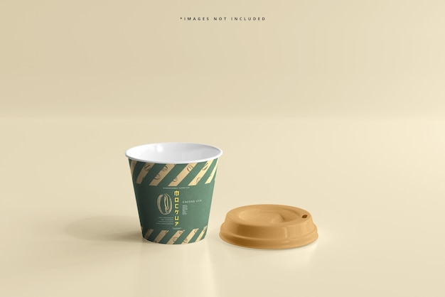 Small size biodegradable paper cup mockup