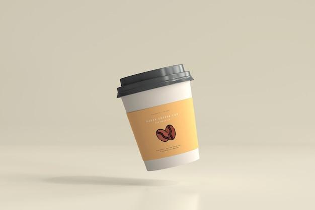 小さいサイズの紙のコーヒーカップのモックアップ