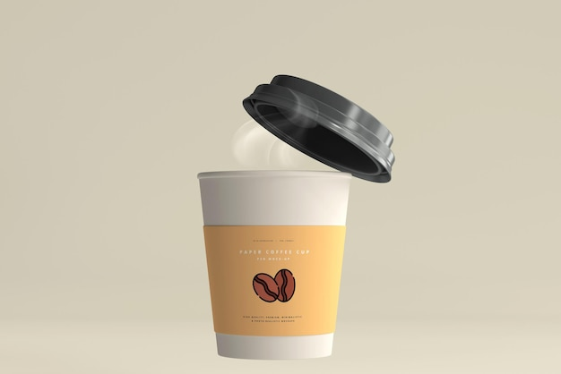 Small size paper coffee cup mockup