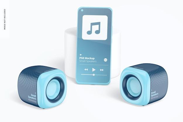 Small speakers mockup