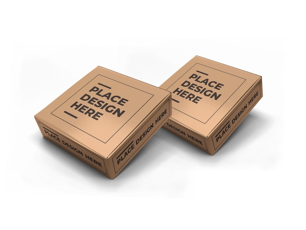 Дизайн макета упаковки маленькой квадратной коробки