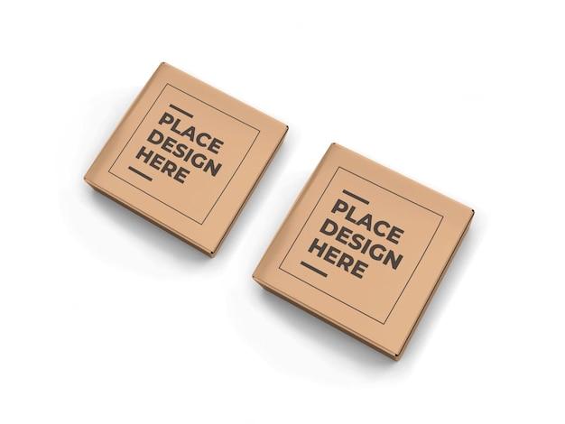 작은 정사각형 상자 포장 모형