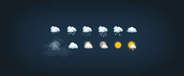 Small weather icon vectors