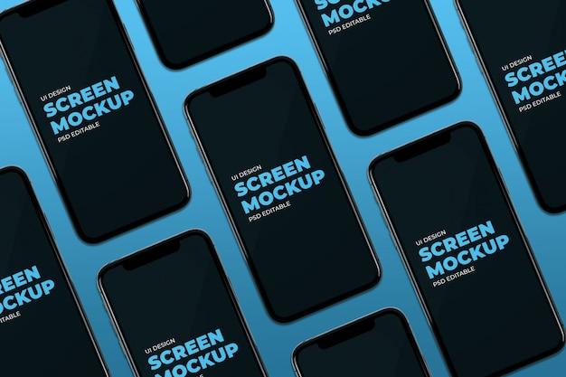 Смартфон экраны мозаика макет