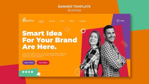 Modello di banner idea di marca intelligente
