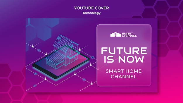 Smart home youtube cover Free Psd