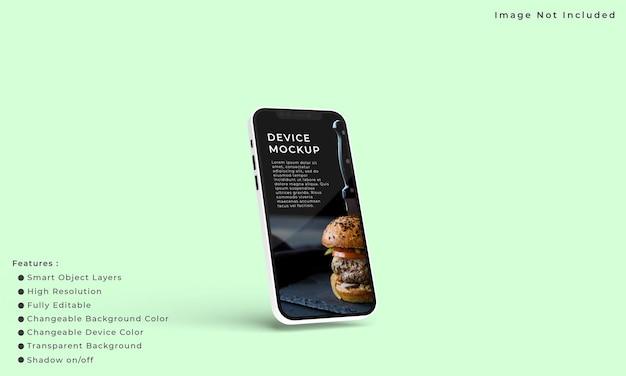응용 프로그램 인터페이스 프레젠테이션을 위한 스마트 폰 및 화면 모형
