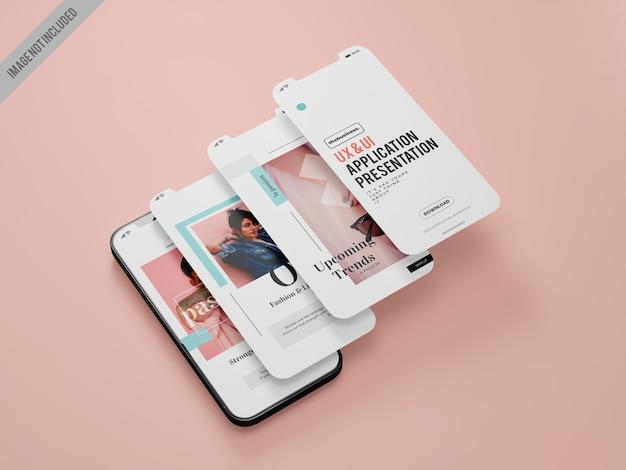 スマートフォンアプリケーションモックアップテンプレート