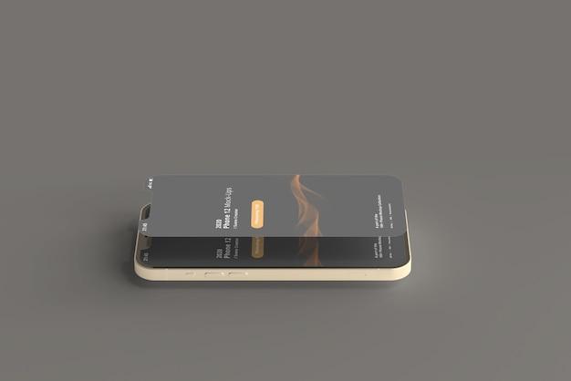 画面が切り離されたスマートフォンのモックアップ