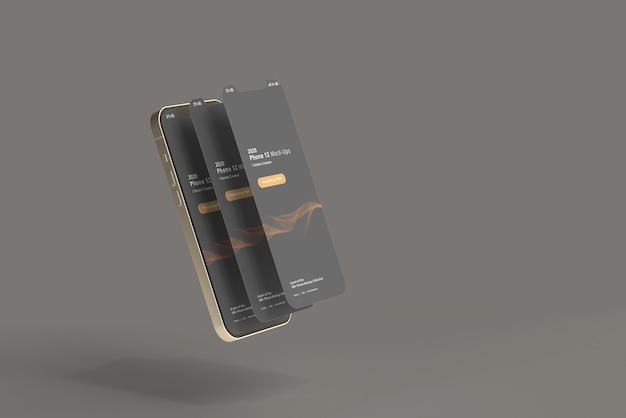 Smart phone mockups with screen detached