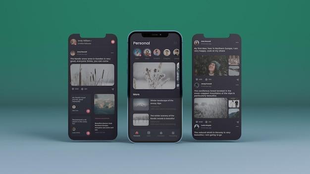 スマートフォン画面モックアップ