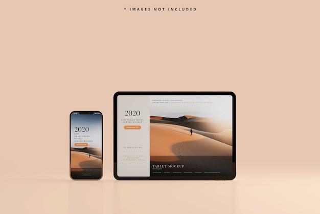 Smartphone e tablet mockup