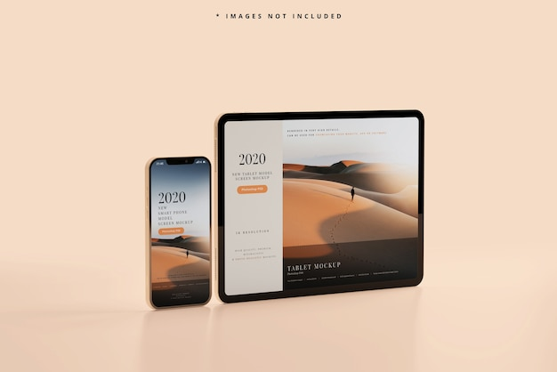 Smart phone and tablet mockup