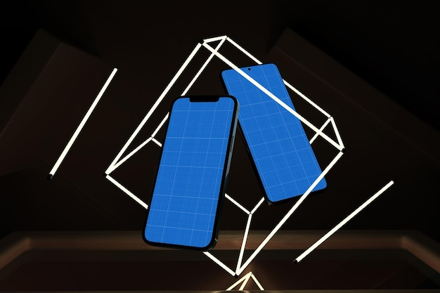 Smart phones neon