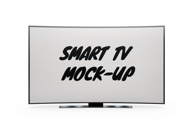 Smart tv mock-up isolated