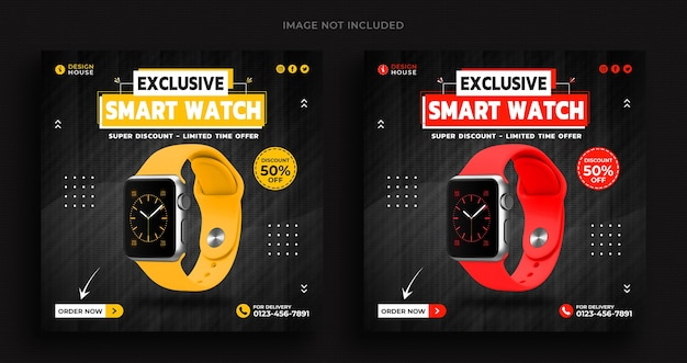 Smart watch collection promotion social media banner template