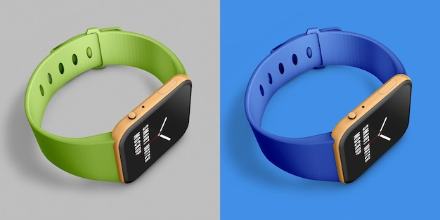 Smart watch set mockup
