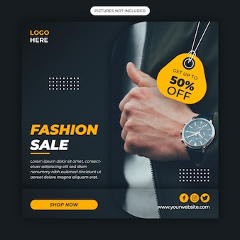 Smart watch social media banner template