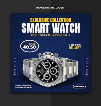 Smart watch social media and instagram post template