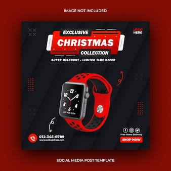 Smart watch social media instagram post template