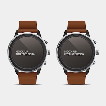 Smart watches with leather straps