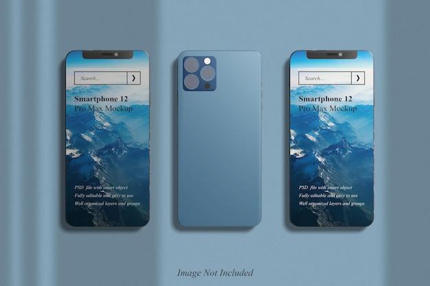 Макет смартфона 12 pro max с наложением теней