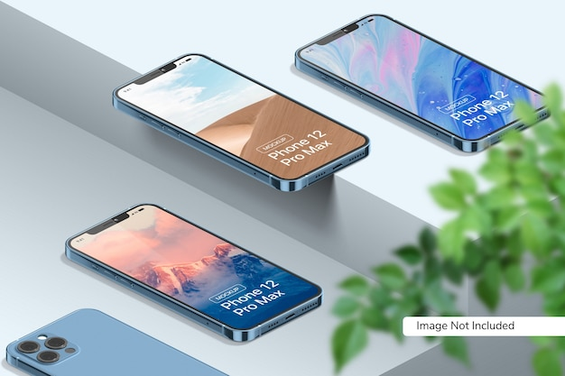 Smartphone 12 Pro Max 모형 프리미엄 PSD 파일