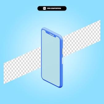 Смартфон 3d визуализации изолированных иллюстрация