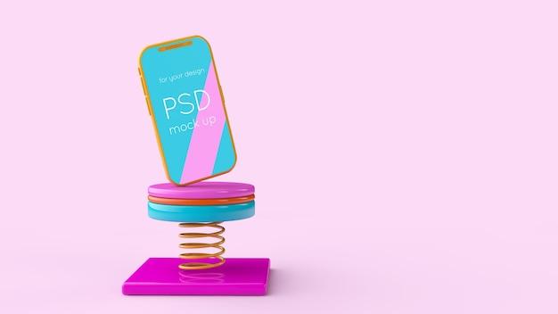 Smartphone 3d rendering