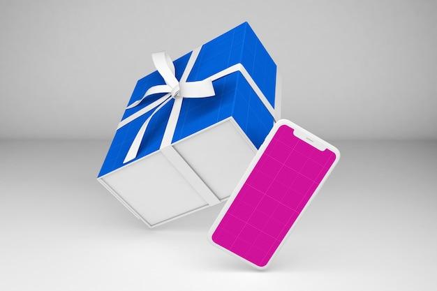Смартфон и подарочная коробка