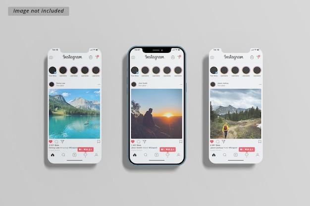 Смартфон и макет экрана