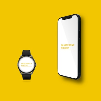 스마트폰 및 smartwatch 모형