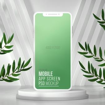 3d-макет экрана приложения для смартфона Premium Psd