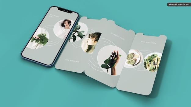 스마트 폰 앱 화면 목업