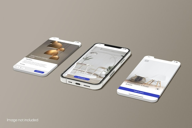 Smartphone for apps screen mockup