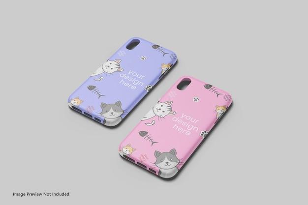 Smartphone cover or case mockup 3d rendering