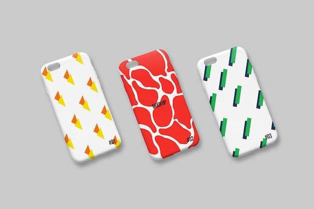 Smartphone cover mockup of three