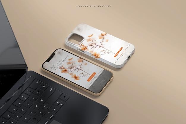 スマートフォンのカバーまたはケースのモックアップ