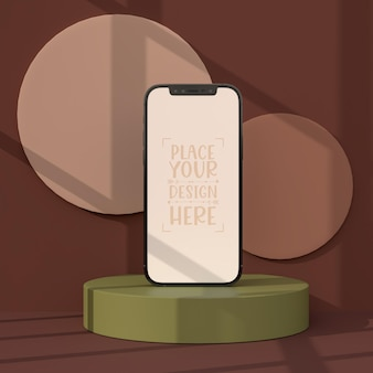 スマートフォンフレームレス空白画面モックアップ