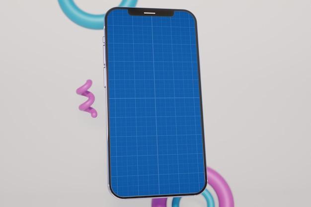 スマートフォンの革新的なモックアップテンプレート