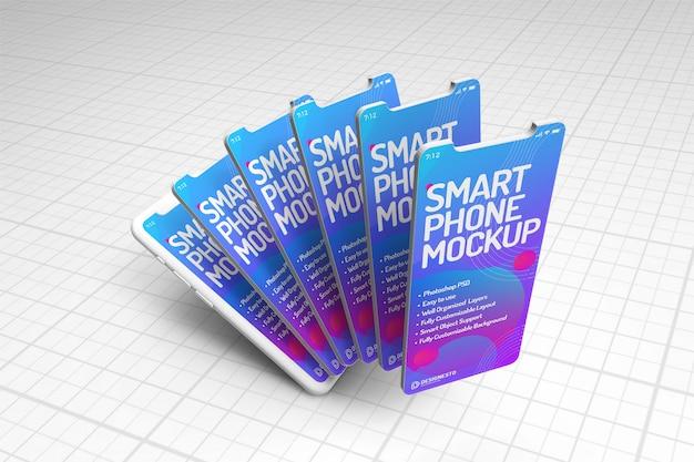 スマートフォン革新的なモックアップ