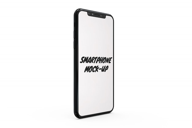 Smartphone mock-up isolated