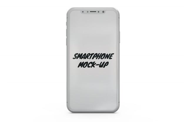 Smartphone mock-up isolated