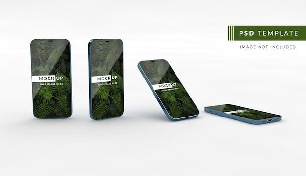 スマートフォンのモックアップデジタルプレゼンテーション