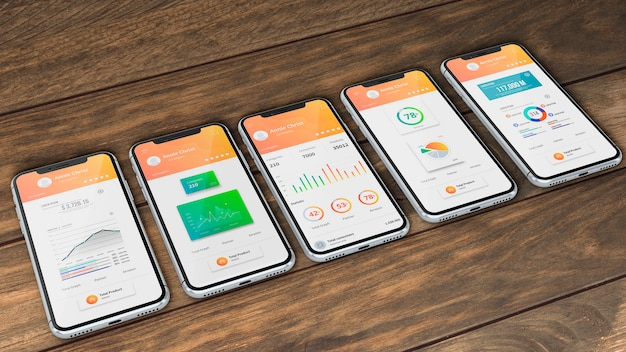 Smartphone mockup for apps