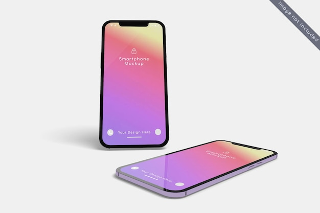 Smartphone mockup design on closeup