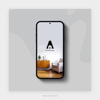 3dレンダリングでのスマートフォンのモックアップデザイン