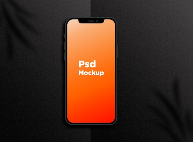 Smartphone mockup design isolated