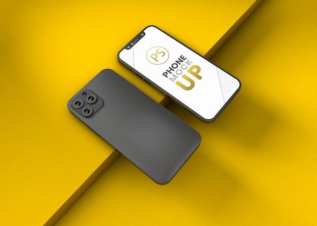 Дизайн макета смартфона с 3d-рендерингом