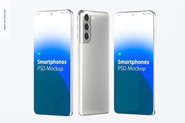 Мокап смартфона, передняя и задняя